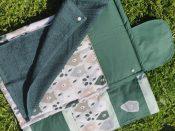 plan a langer avec des motifs ours et couleurs verts