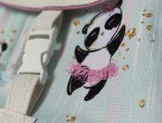 sac à dos panda bleu et rose