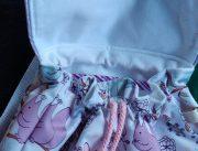 sac a dos avec des motifs écureuils roses