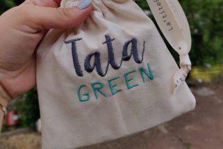 pochette tata green